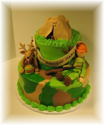 hunting birthday Cake Ideas for Men Lisas Cakes and Cupboards