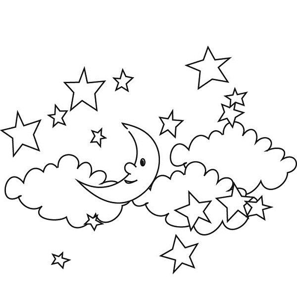 Night Sky Coloring Pages Night Sky Coloring Pages Coloring