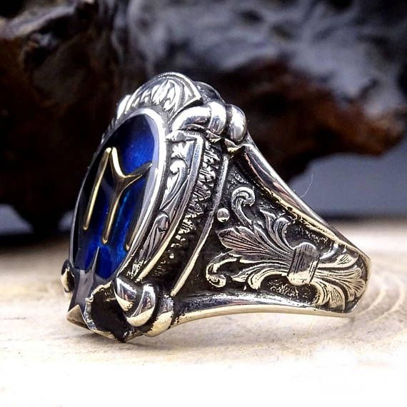 Dirilis Ertugrul Silver Ring, 925 Sterling Silver Mens Ring, Mens
