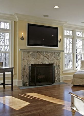 Gas Fireplace With Tv Above Flat Screen Tv Ok To Mount Over A