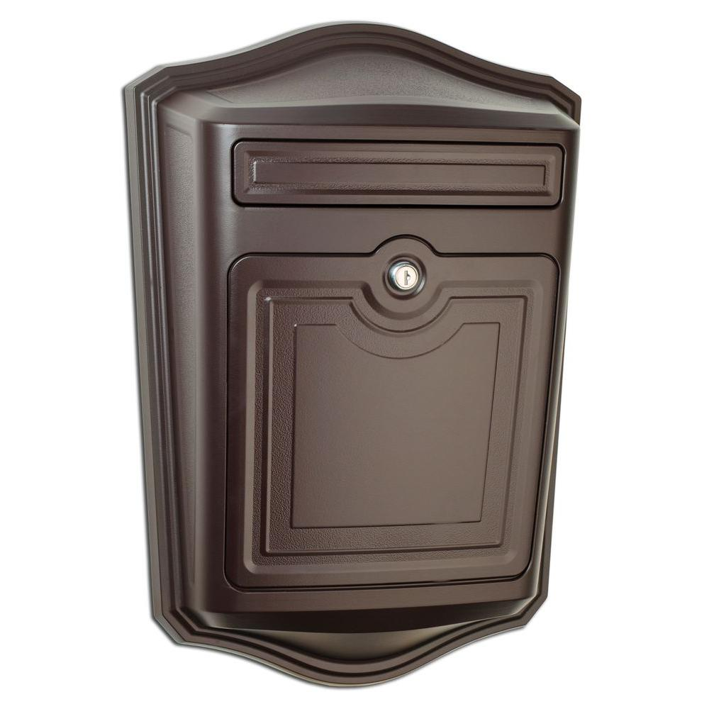 Maison Oil Rubbed Bronze Wall Mount Locking Mailbox 2540rz The Home Depot Wall Mount Mailbox Architectural Mailboxes Mounted Mailbox