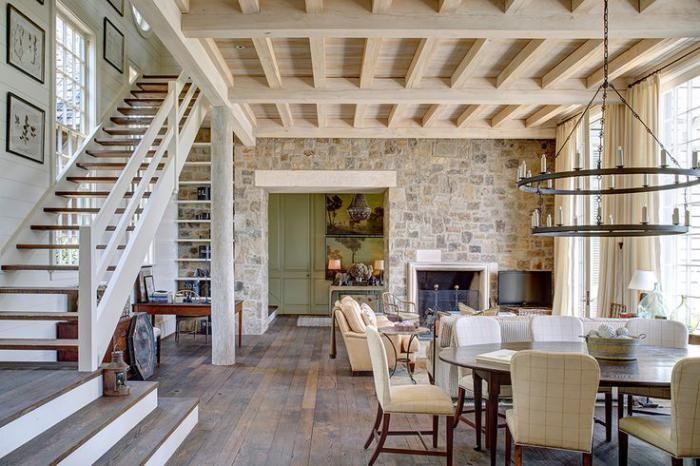 Bien-aimé La déco avec pierre apparente | Loft mezzanine, Salons rustiques  ZJ54