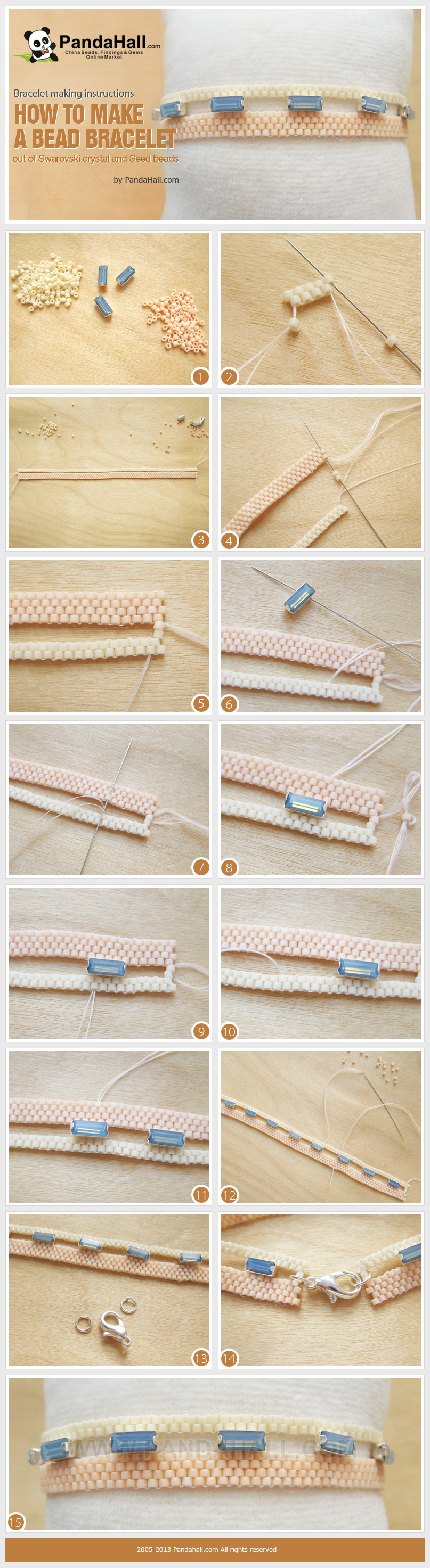 How do you make a beaded bracelet? Here are some really practical instructions on how to make a bead bracelet. Once you see how easy they are, you will love to make yourself one such piece.