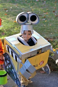 You don't have to shell out a ton of money to make a great Wall-E costume. Just make one with cardboard!