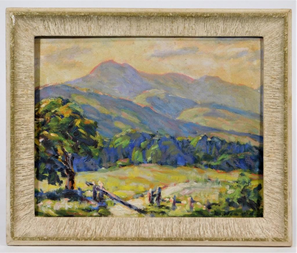 """""""Mount Chocorua,"""" Marion Howard, oil on canvasboard, 8 x"""