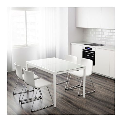 IKEA   GLIVARP, Extendable Table, One Extension Leaf Included.The Glass Table  Top Lets Light Through, Which Makes The Table Feel Small And Blend In, ...