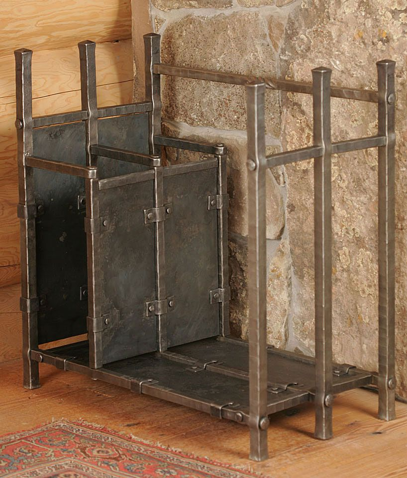 firewood rack with for kindling frame built with hotpunch mortise - Firewood Racks