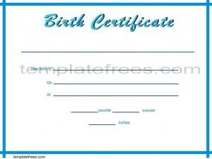 Free Certificate Of Birth Template For Word In Simple Design