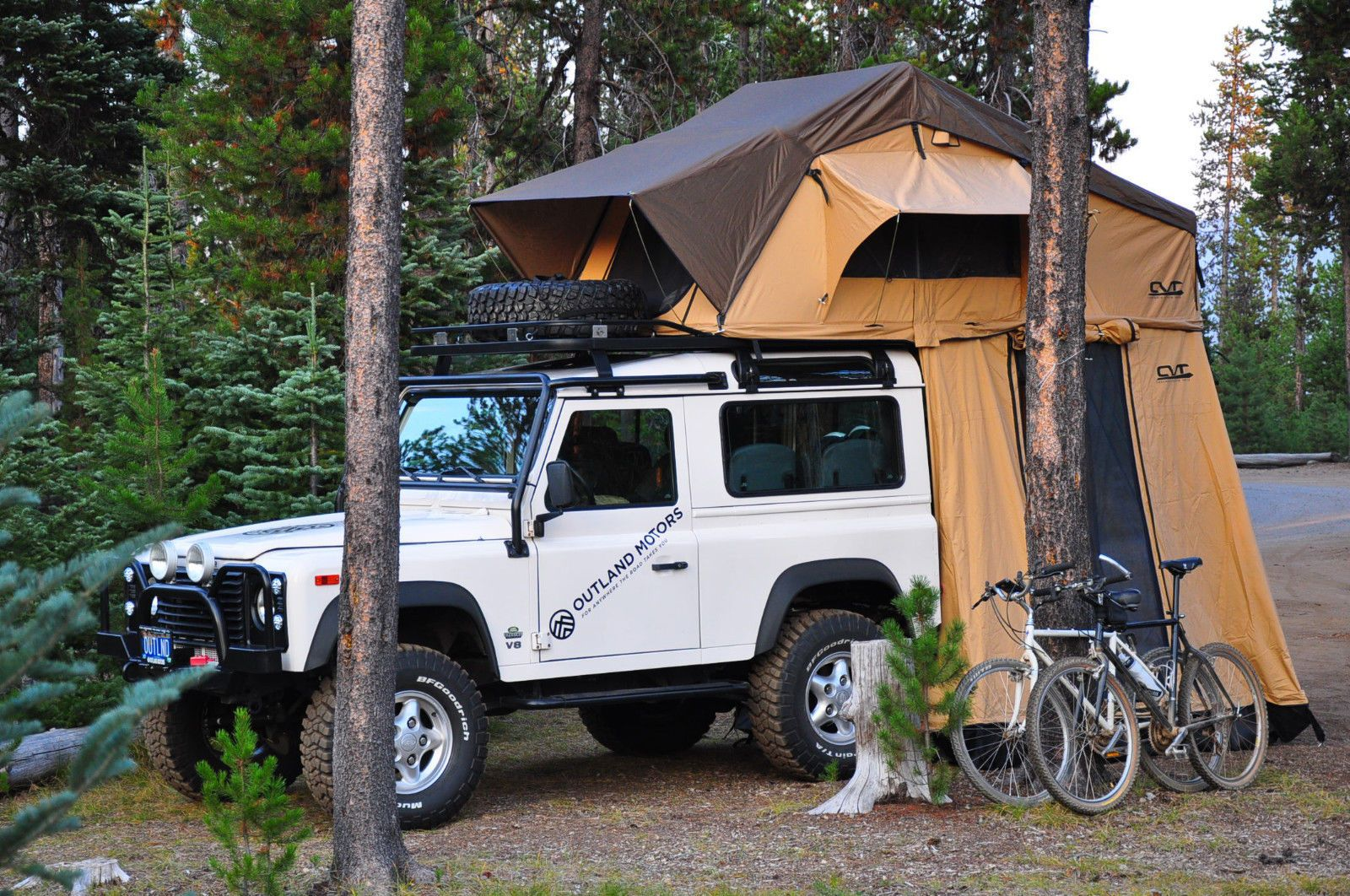 Defender 90 with CVT Roof Tent | Land Rovers    then the