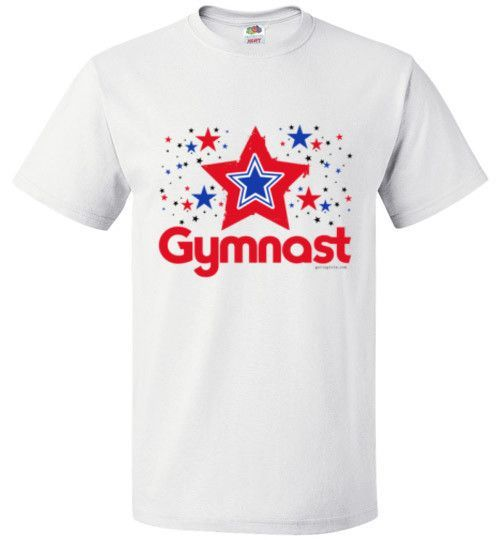 Golly Girls: Patriotic Stars Gymnast Fruit of the Loom T-Shirt (Youth & Adult Sizes)