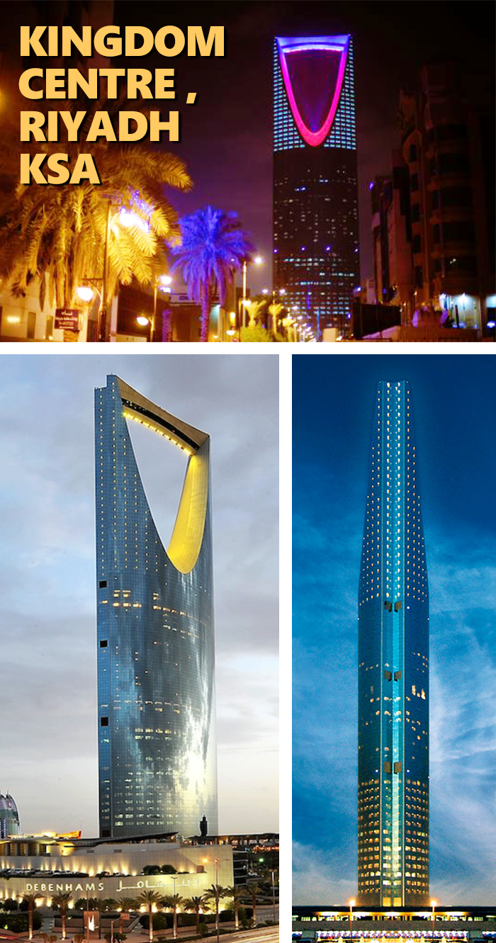 Kingdomcentre برج المملكة Is A 99 Storey 302 3 M 992 Ft Skyscraper In Riyadh Saudi Arabia It Is The Fifth Tallest Skyscra Skyscraper Dammam Riyadh