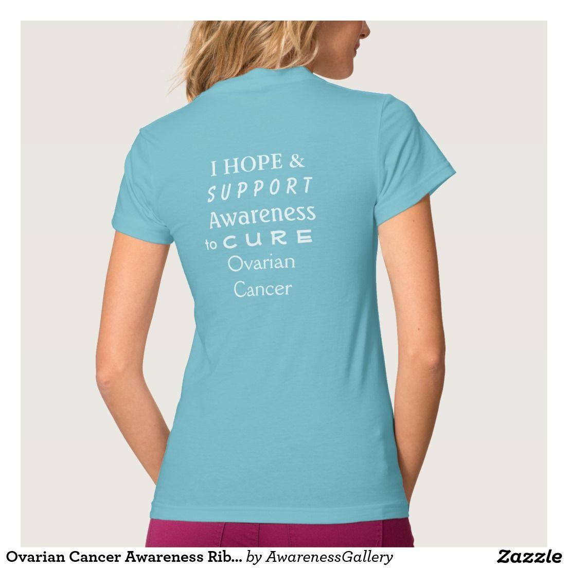 Ovarian Cancer Awareness Ribbon Angel Shirt