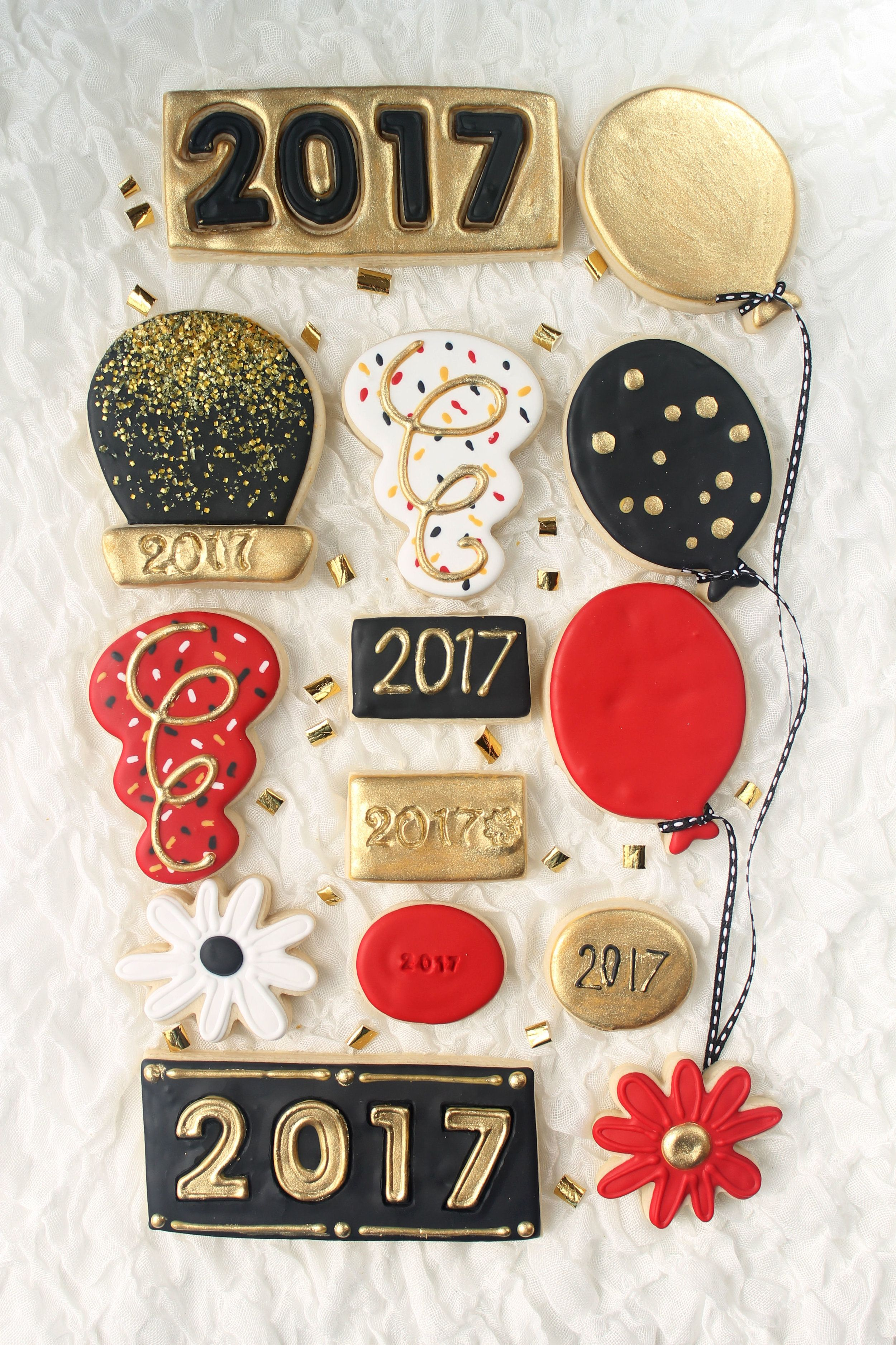 Happy New Year Decorated Cookie Collection