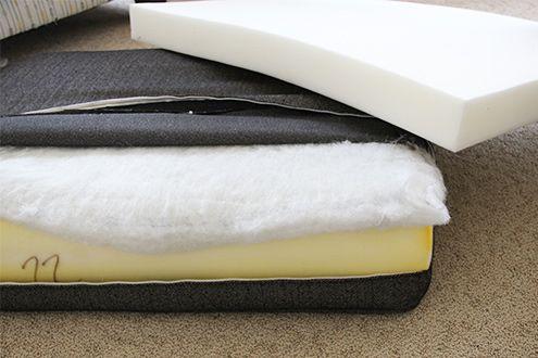 How To Stuff Your Sofa Cushions And Give Them New Life Cushions On Sofa Foam Sofa Sofa Back Cushions