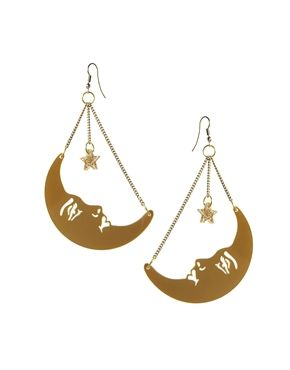 Tatty Devine La Luna Moon Earrings