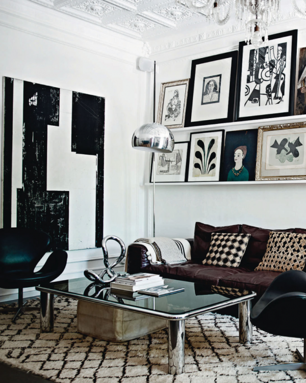 hot look for spring 2013 black and white mallorca home of danish fashion designer malene. Black Bedroom Furniture Sets. Home Design Ideas