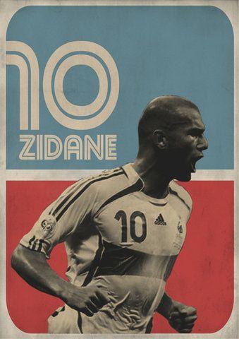 Zidane Poster Design By Graphic Designer Zoran Lucic