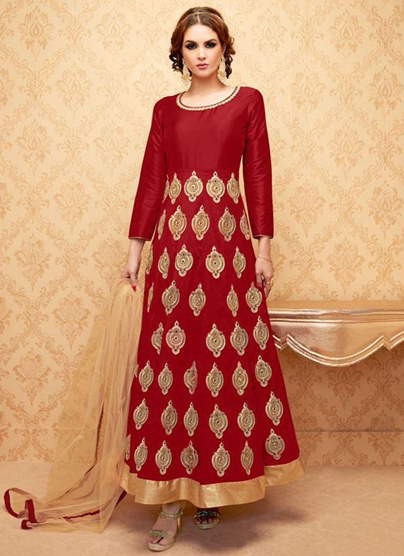 85c86809a3 Buy Masterly Lace Work Banglori Silk Anarkali Salwar Suit, Online #palazzo  #palazzosuit #salwarkameez #pakistanisuit