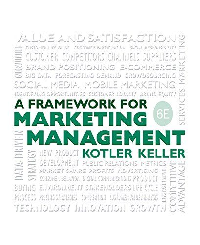 Framework for marketing management 6th edition marketing framework for marketing management 6th edition fandeluxe Gallery