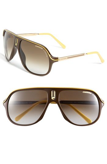 a658ac3f8d Carrera Eyewear 'Safari' Polarized Aviator Sunglasses available at  #Nordstrom