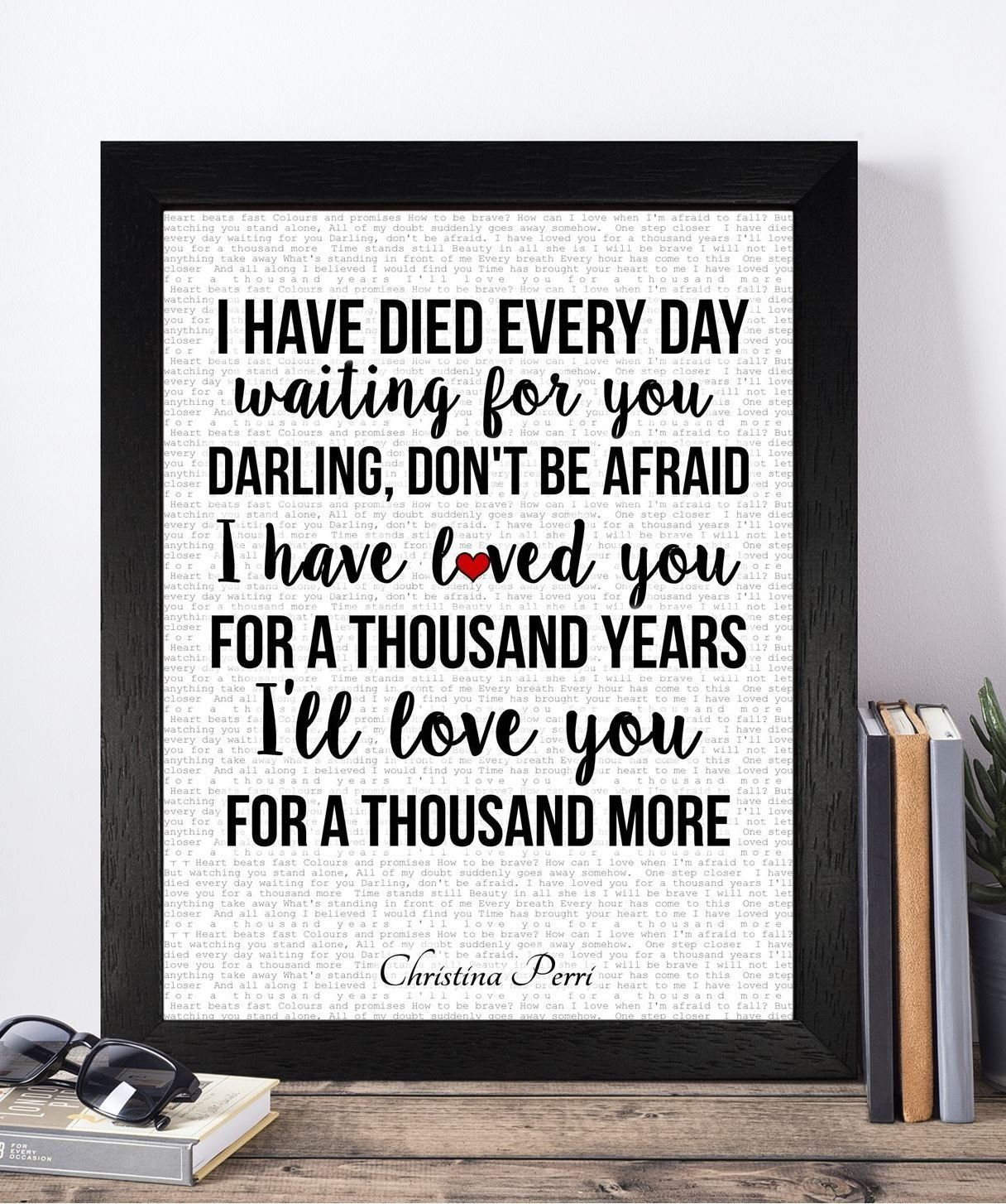 Sentimental Wedding Gift Ideas: Christina Perri Valentines Day Wedding Anniversary