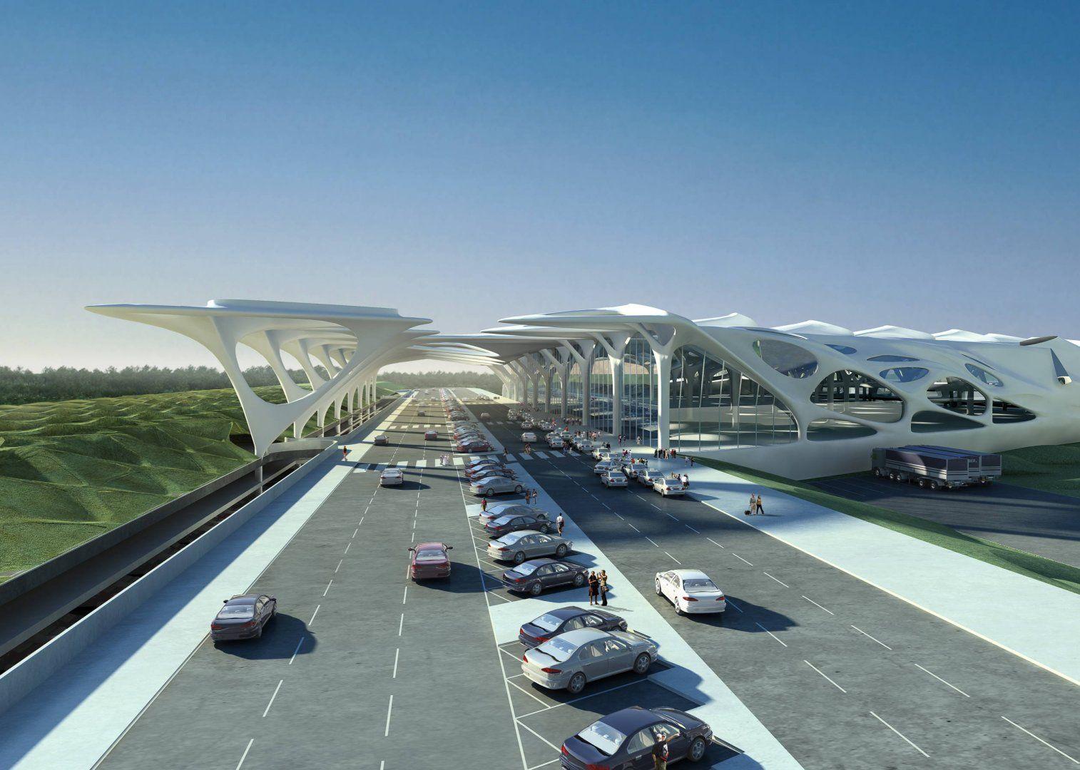 New Passenger Terminal And Masterplan Zagreb Airport Masterplans Zaha Hadid Architects Arquitetura Futuristica Arquitetura Design