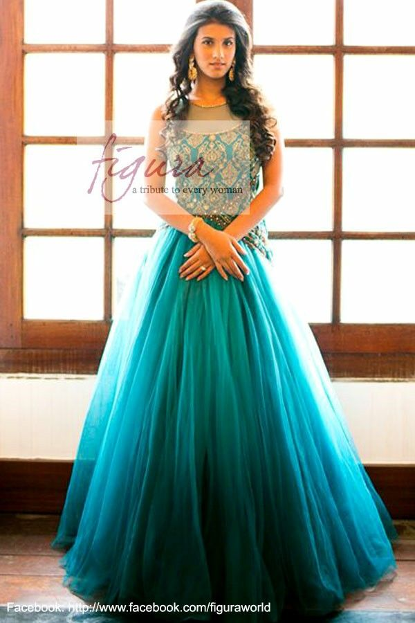 5db7a44a595 Long indo western dress for wedding. Indian bridesmaid dresses ...