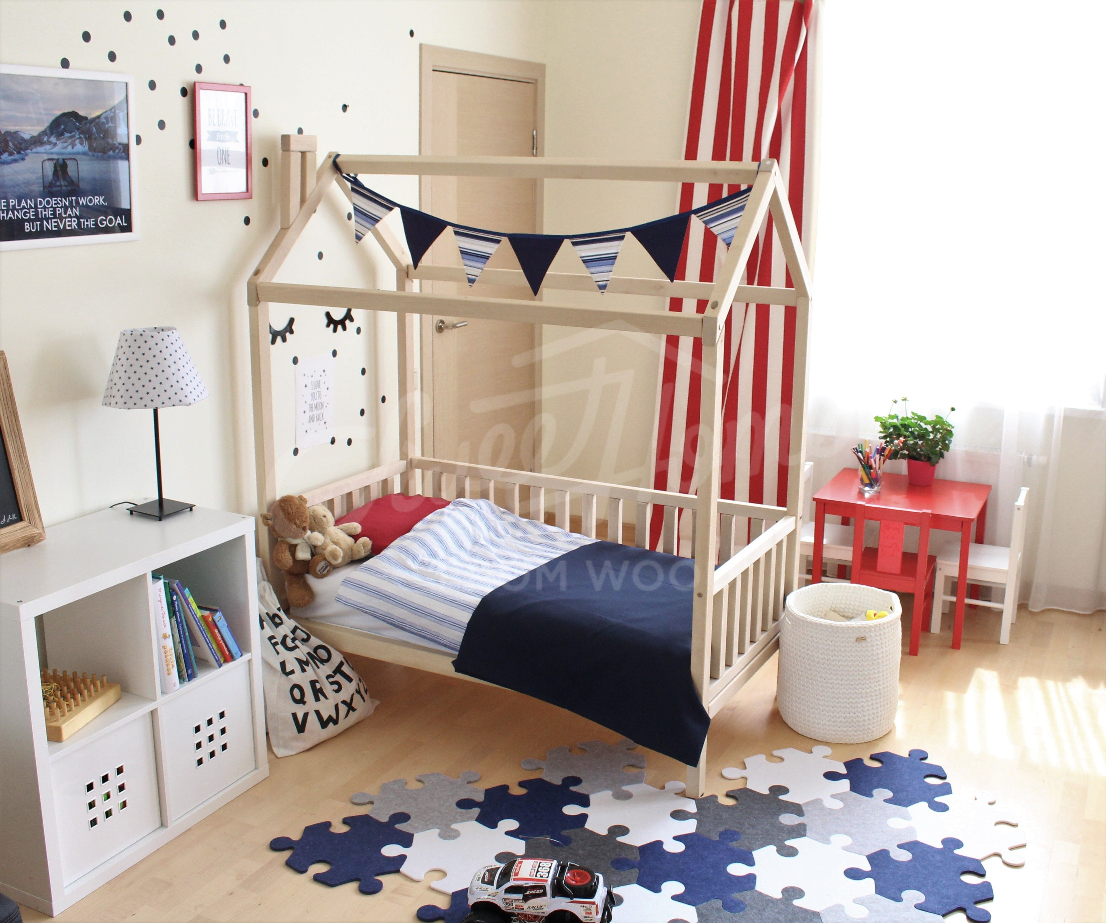 Kids Room House Bed Nursery Wooden