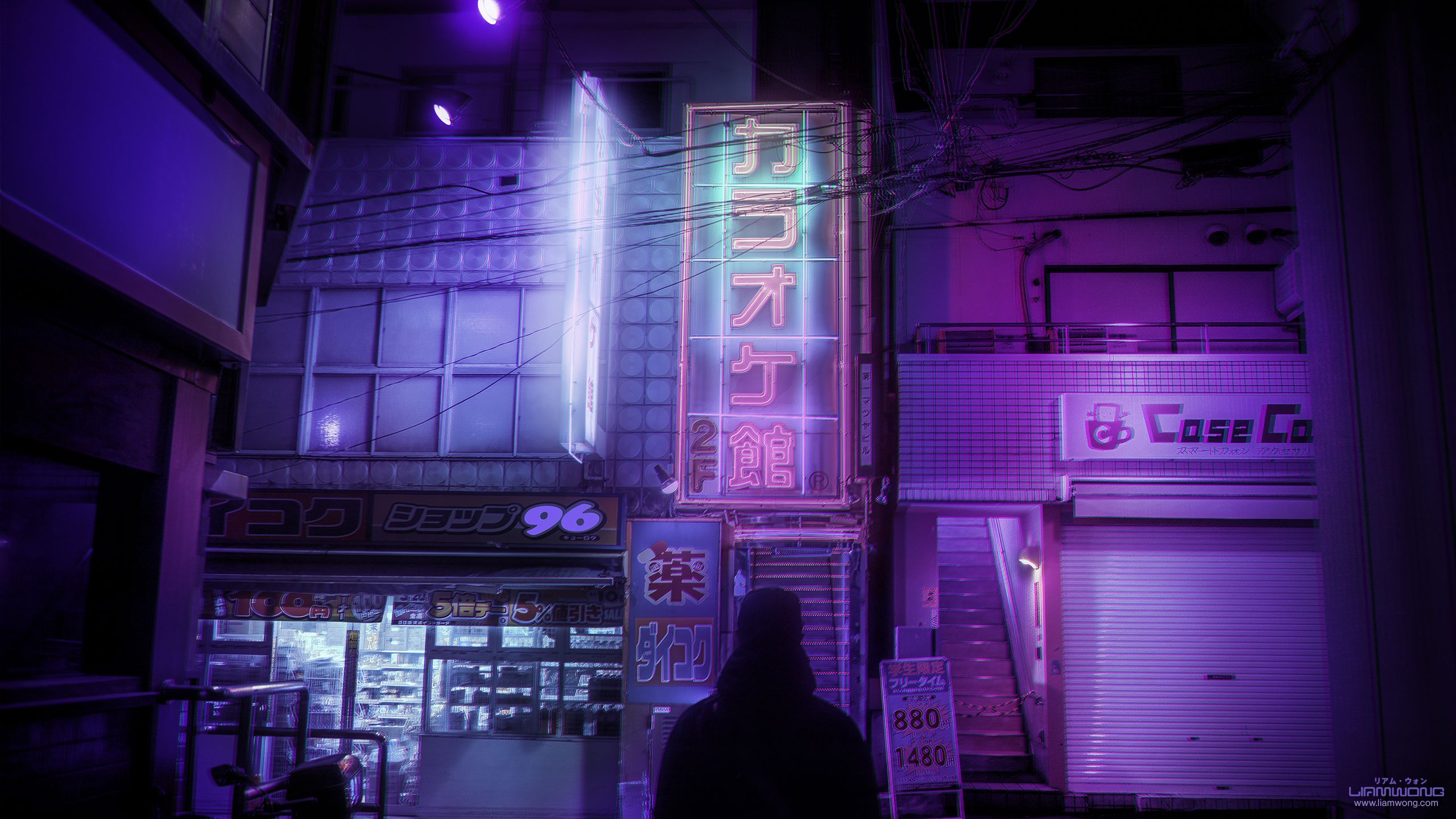 Seeking similar wallpapers, dark aesthetic with neon ...