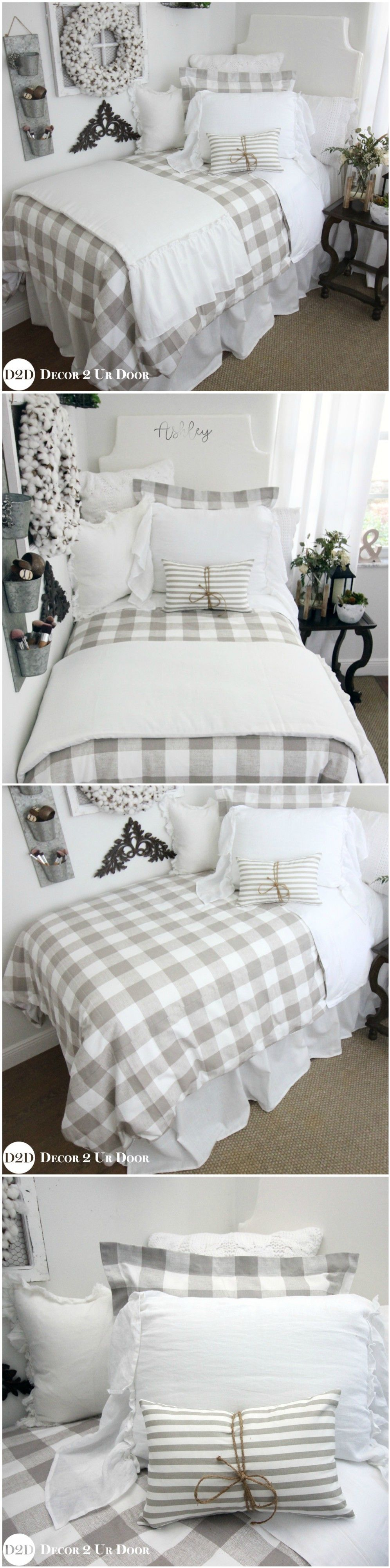 and comforter super neutral sandy summery pin bedroom yellow bedding buffalo chic bedrooms summer with neutrals check