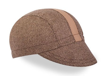 Walz Cap – Brown Herringbone/Tan Wool Racing Stripe - http://stolengoat.com/brand/walz-caps/