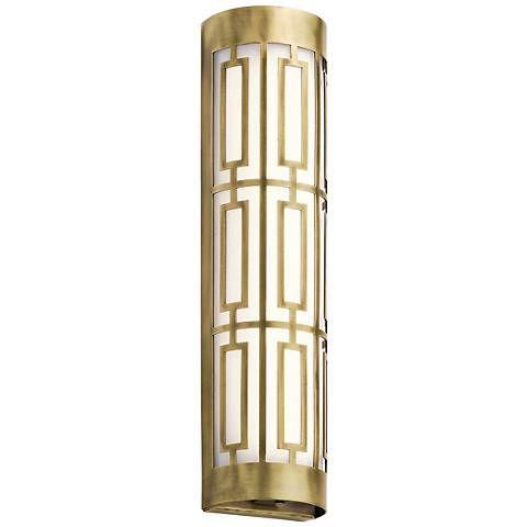 Kichler Empire W LED Natural Brass Linear Bath Light Bath Light - Linear bathroom lighting