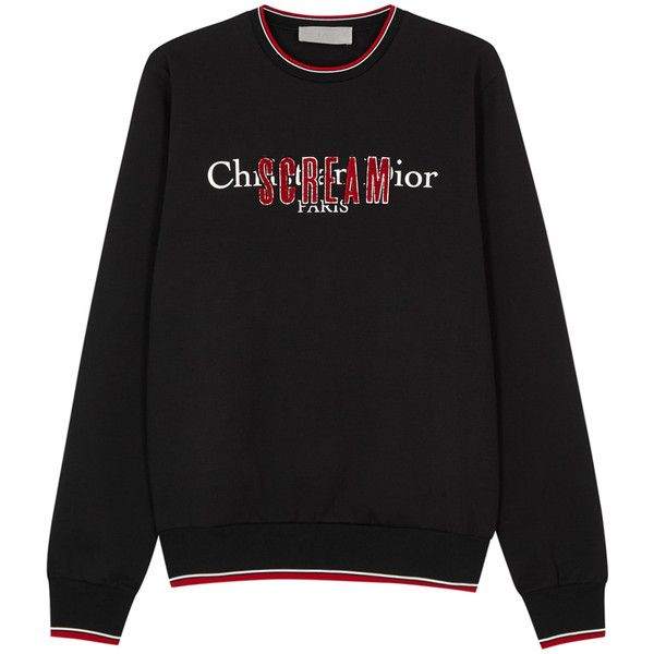 Dior Homme Scream Rouge Cotton Blend Sweatshirt - Size M (27,800 THB) ❤  liked