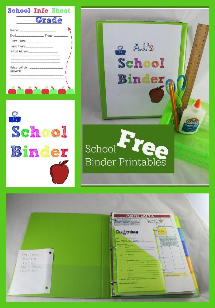 School Binder Organization Free Printables Debt Free Spending Binder Organization School School Binder School Info