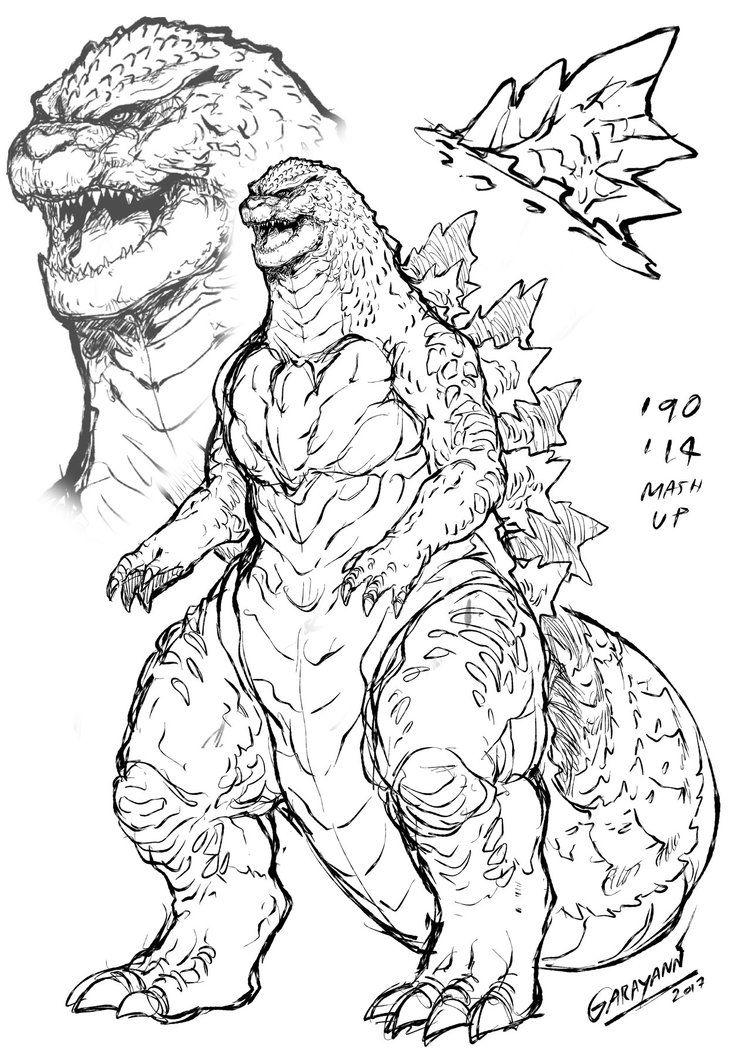 Godzilla Heisei 2014 By Garayann On Deviantart Godzilla Tattoo Godzilla Godzilla Wallpaper