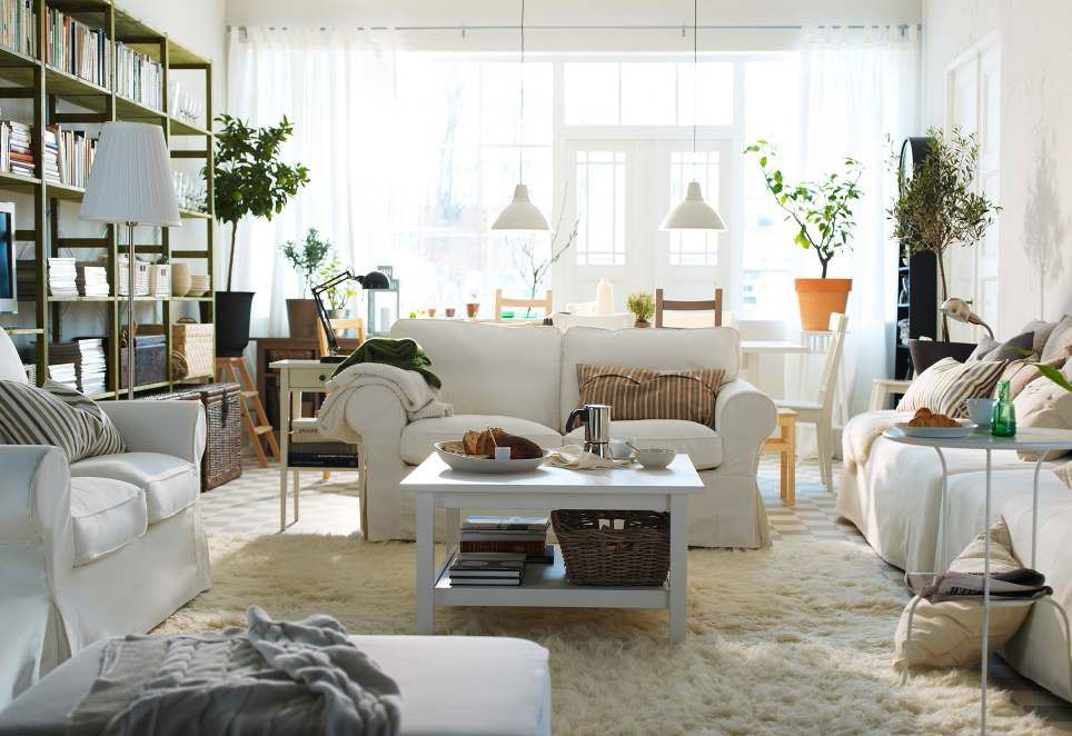 White Sofa Design Ideas & Pictures For Living Room  White Sofas Prepossessing Ikea Small Living Room Design Ideas Inspiration