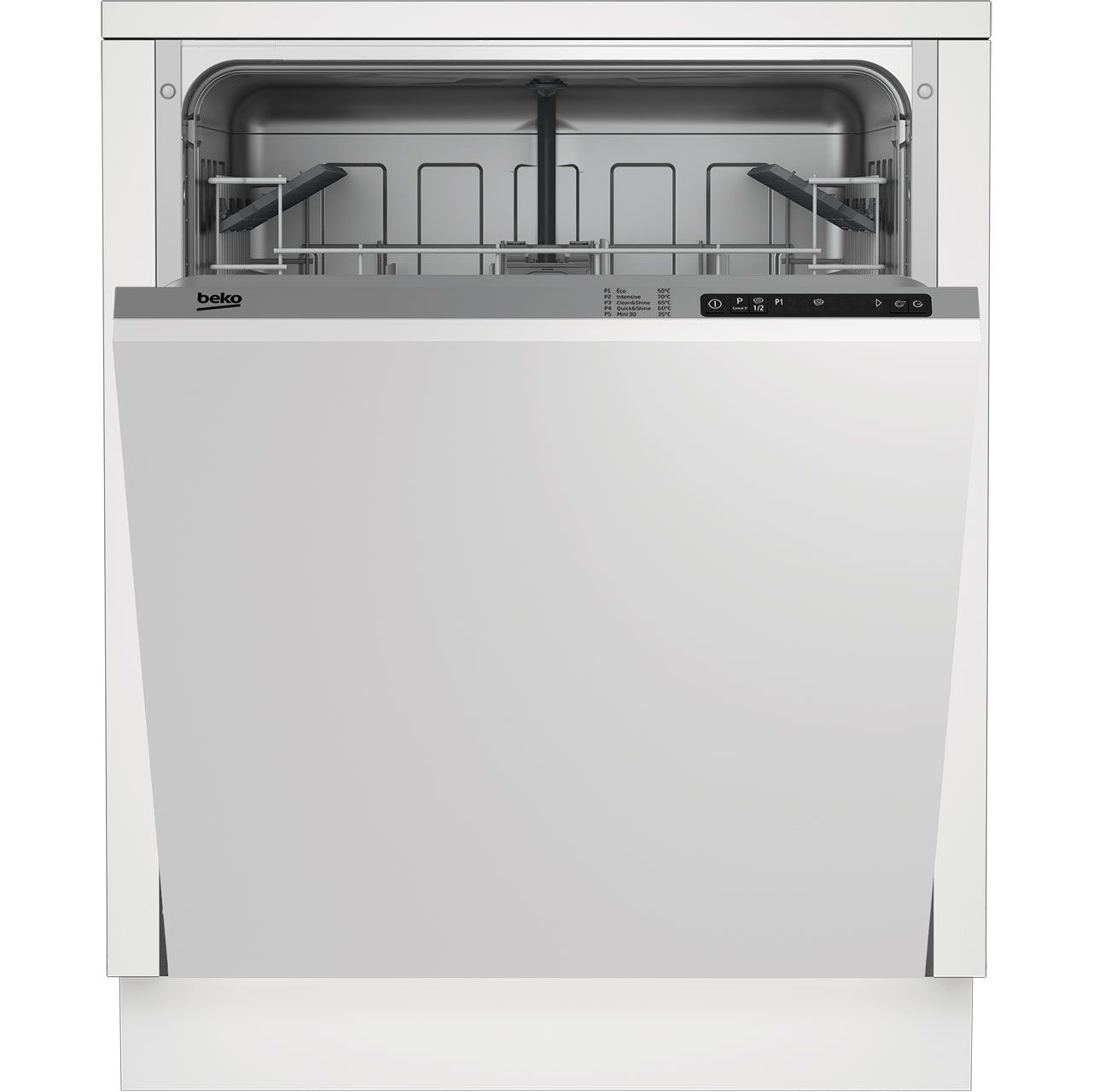 Din15r10 Si Beko Standard Dishwasher Silver Ao Com