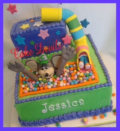 Chuck E Cheese Birthday Cake from CakeDevilscom Birthday Cakes