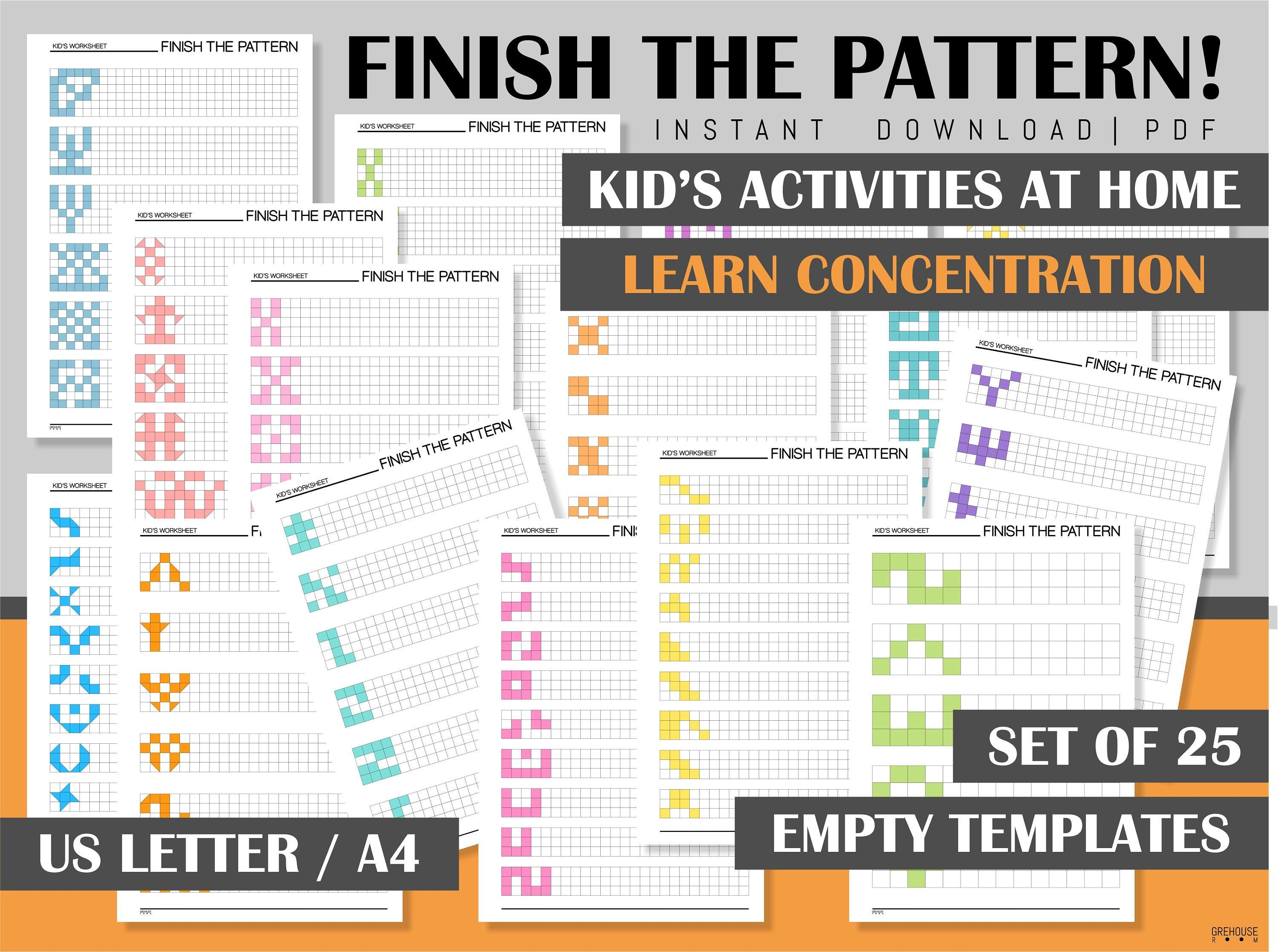 Children Activities Sheets Homeschool Printables Pre K