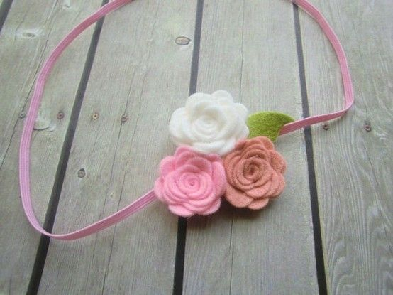 Felt flower headband  Baby Girl Flower by PeekaBowtiq on Etsy, $6.75 by vassia