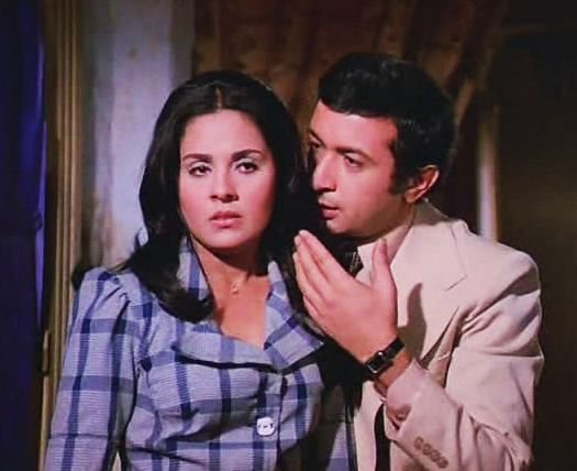 نور الشريف مع حياة قنديل الشياطين 1977 Egyptian Actress Celebrities Actresses