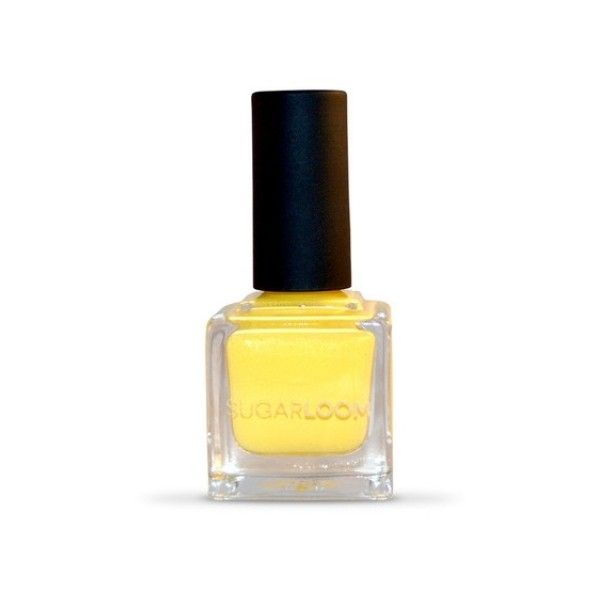 Sugarloom Cosmetics Baked Nail Polish (49 BRL) ❤ liked on Polyvore featuring beauty products, nail care, nail polish and yellow