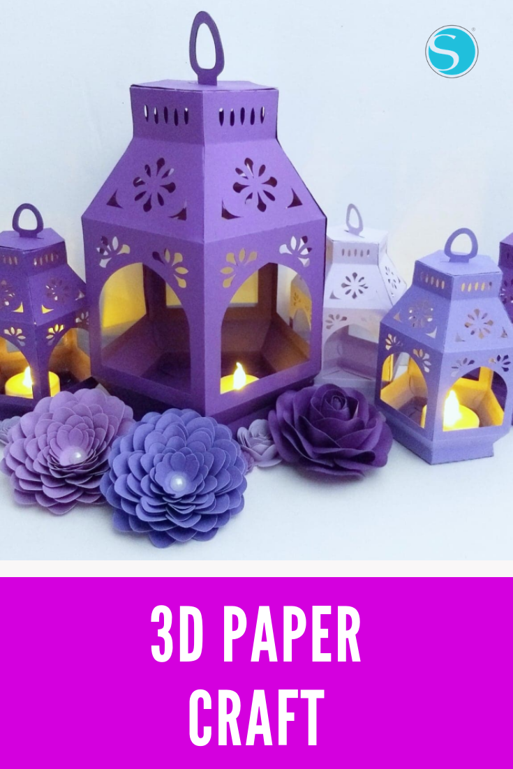 Ever Since I Found This Paper Lantern Template I Ve Been Obsessed With Making Them In Different Colors And Si Ramadan Crafts Lantern Crafts Paper Lanterns Diy