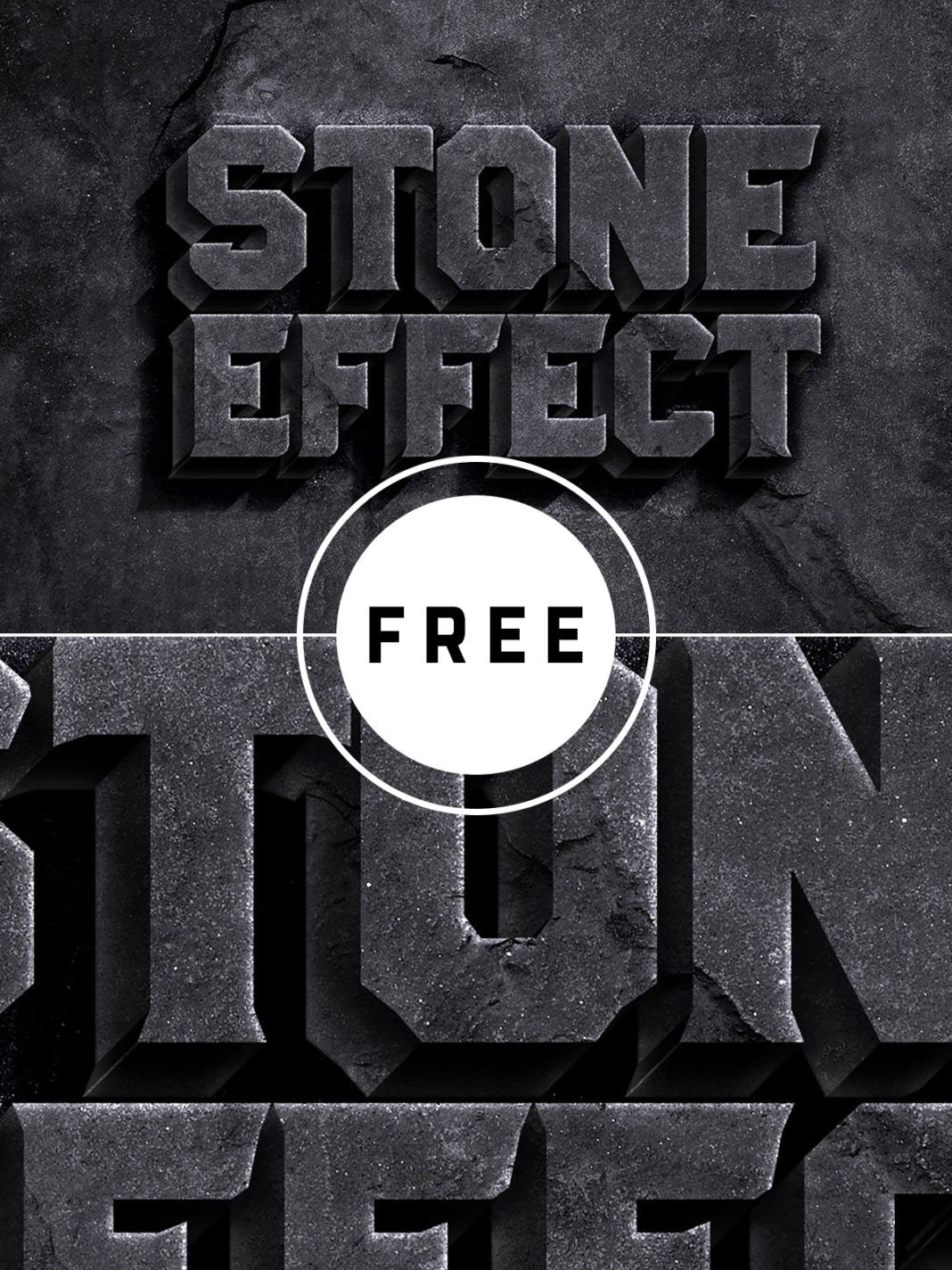 Stone Text Effect PSD Text effects, text
