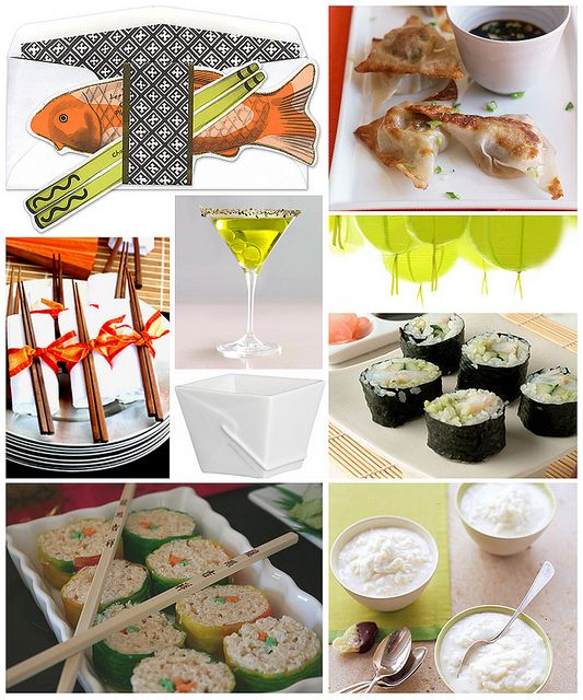 Sushi Dinner Party Ideas Part - 16: Sushi Dinner Party By Finestationery, Via Flickr