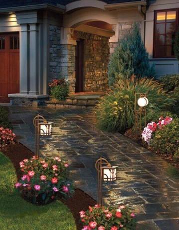 25 Recommendation Landscape Path Lighting Ideas Ide Berkebun Kebun Patio