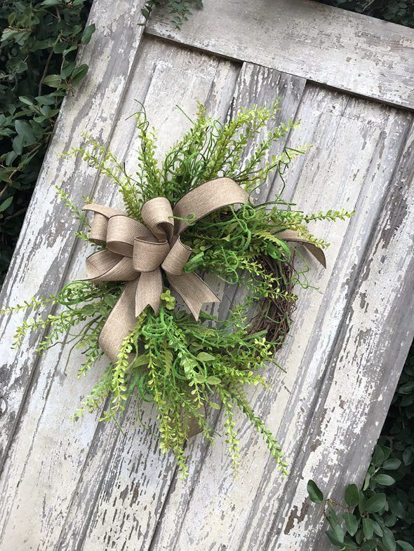 Wreath for front door, Double door wreath,Green Wreath,Spring Wreath, All Year Wreath,Fern wreath, Natural wreath,year round Wreath #doubledoorwreaths