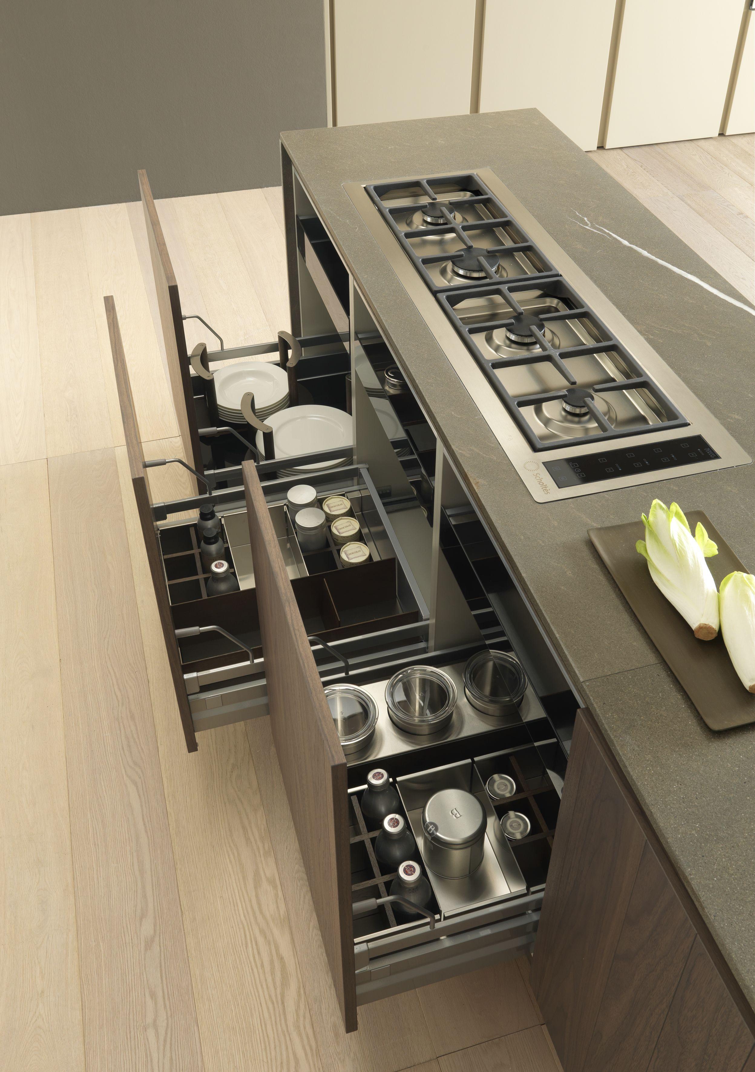 Bulthaup - B3 B3 modular drawer organization system in wood and ...