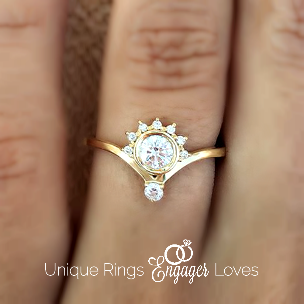 gold is exquisite claw radiant diamond eleanor index four the rings setting subtle white in held precision stylish ring engagement solitaire of this centrepiece wg shoulder cut a set