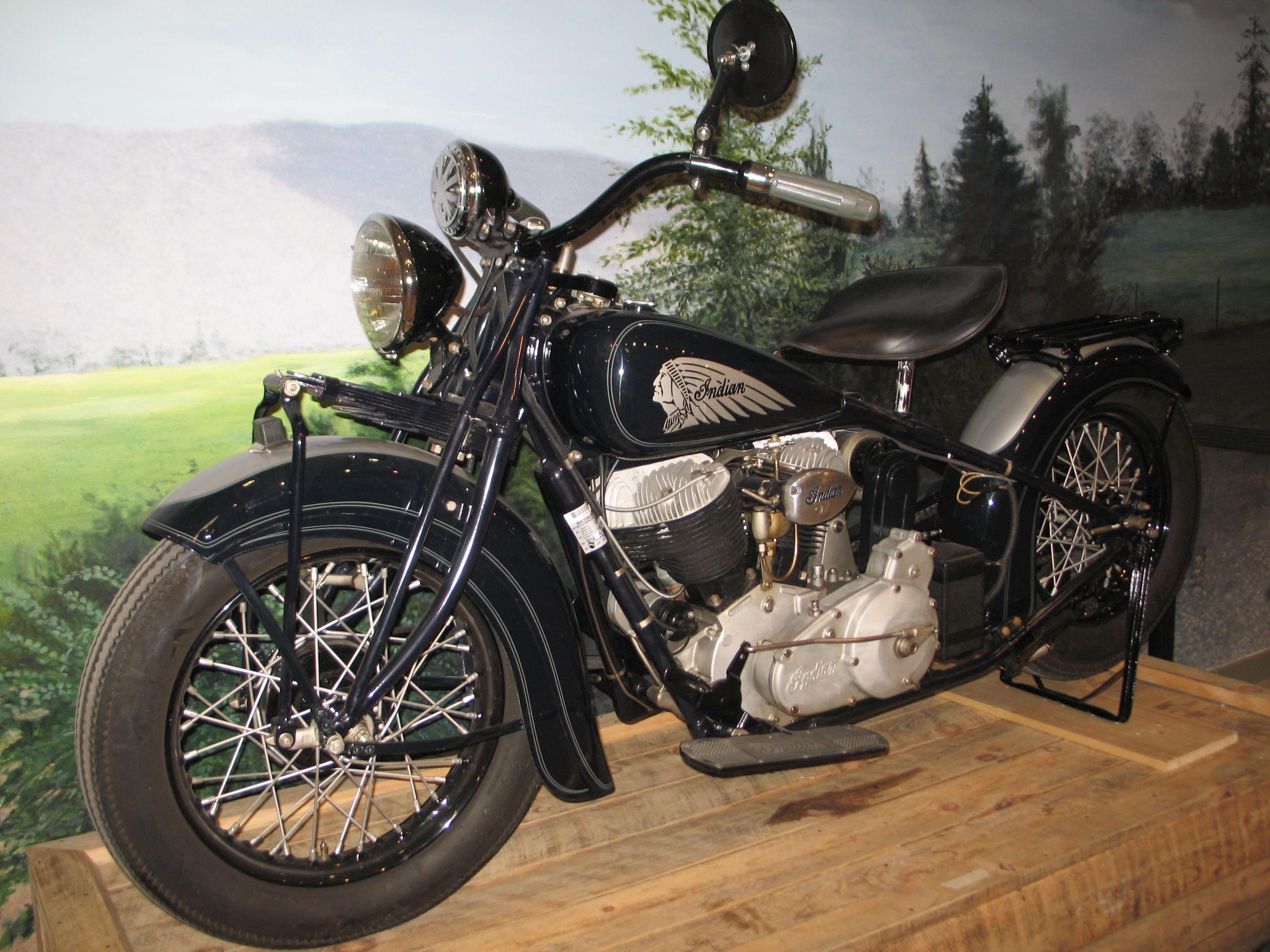 1934 indian chief bobber indian nation indian motorcycles america at the aaca museum